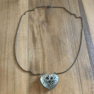 Alexis Bittar Hand Carved Lucite Heart Necklace